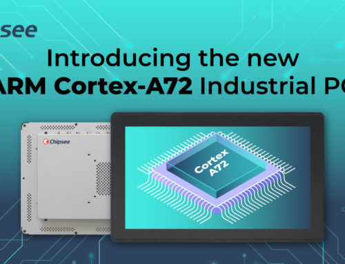 Introducing the new ARM Cortex-A72 Industrial PC – 15 inches, capacitive touch panel screen